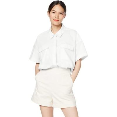 [エストネーション] ハーフスリーブビッグシャツ レディース 38 オフホワイト