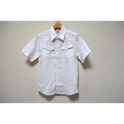 スマートスパイス リネン半袖シャツ