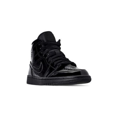 ジョーダン レディース スニーカー Air Jordan 1 Mid SE カジュアルシューズ Black/Black/Black