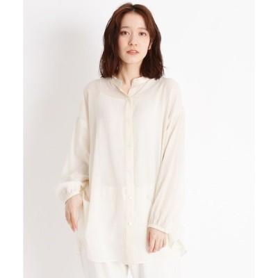シャツ ブラウス 【WEB限定】シルクコットン(綿)シフォンシャツ