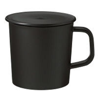 良品計画無印良品 ポリプロピレンふた付きマグカップ・黒 約270ml/約直径8×高さ8cm 02181239 良品計画