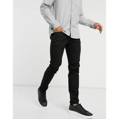 セレクテッドオム メンズ デニムパンツ ボトムス Selected Homme slim jeans organic cotton black Black denim