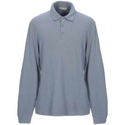 アレックスミル ALEX MILL ポロシャツ ブルーグレー M コットン 100% ポロシャツ