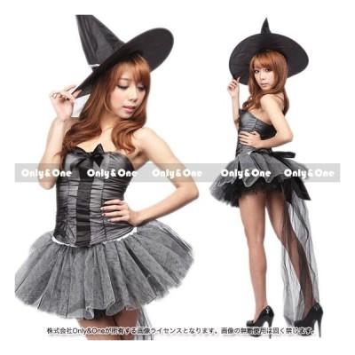 ハロウィン 魔女 コスチューム コスプレ衣装 チュール風スカート(maj)