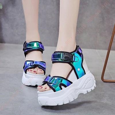 スポーツサンダル レディース 厚底 サンダル 歩きやすい 痛くない 軽量 柔らかいクッション 防滑 インヒール カジュアル 運動靴 おしゃれ 夏 ビーサン ベルト