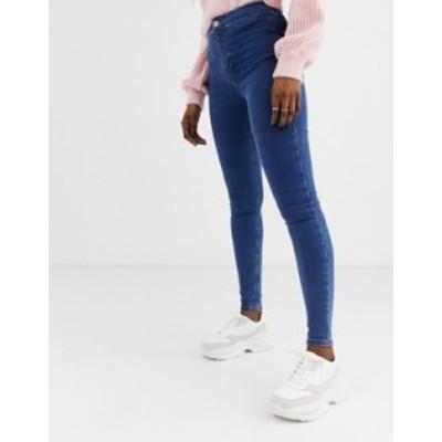 トップショップ レディース デニムパンツ ボトムス Topshop Joni skinny jeans in mid wash Mid denim