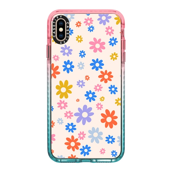 CASETiFY iPhone Xs Max Impact Case - Groovy Florals by Oh So Graceful