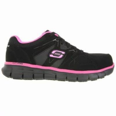 スケッチャーズ その他シューズ Sandlot Safety Alloy Toe Shoe Black/Pink