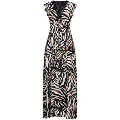 DODICI22 ロングワンピース&ドレス ブラック 40 ポリエステル 100% ロングワンピース&ドレス
