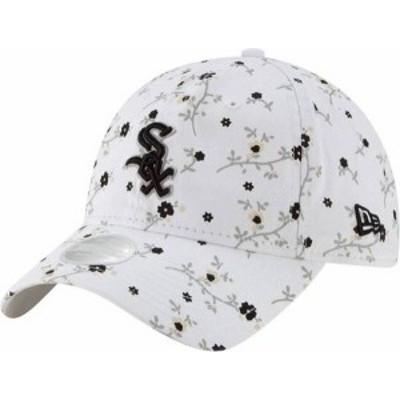 ニューエラ レディース 帽子 アクセサリー New Era Women's Chicago White Sox White Blossom 9Twenty Adjustable Hat