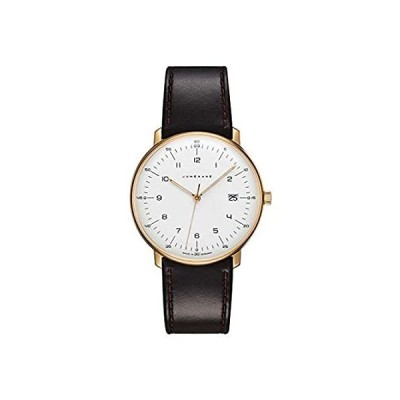 Junghans Max Bill Men's Quartz Wrist Watch   Black Leather Strap 041/7872.0