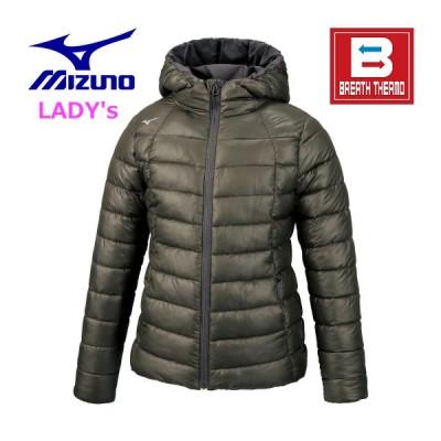 ミズノ MIZUNO/レディス 2020 - 21 秋冬 最新/ブレスサーモ テックフィルジャケット/クライミングアイビー/32ME085538/吸湿発熱素材ブレスサーモを使用