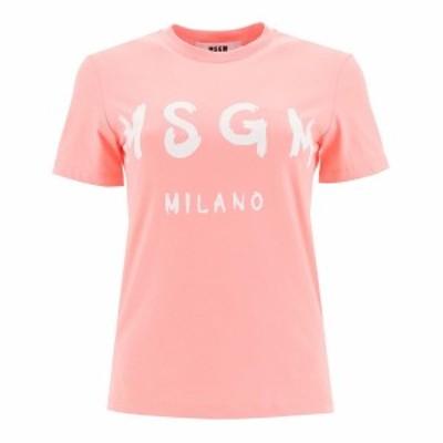 MSGM/エムエスジーエム Tシャツ ROSA Msgm brushed logo t-shirt レディース 2941MDM60 207798 ik