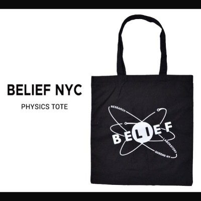 BELIEF NYC (ビリーフ) PHYSICK TOTE BAG トートバッグ エコバッグ 鞄 キャンバス ネコポス便発送で送料無料