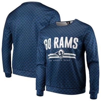 フォコ パーカー・スウェットシャツ アウター メンズ Los Angeles Rams Slogan Pullover Sweatshirt Navy