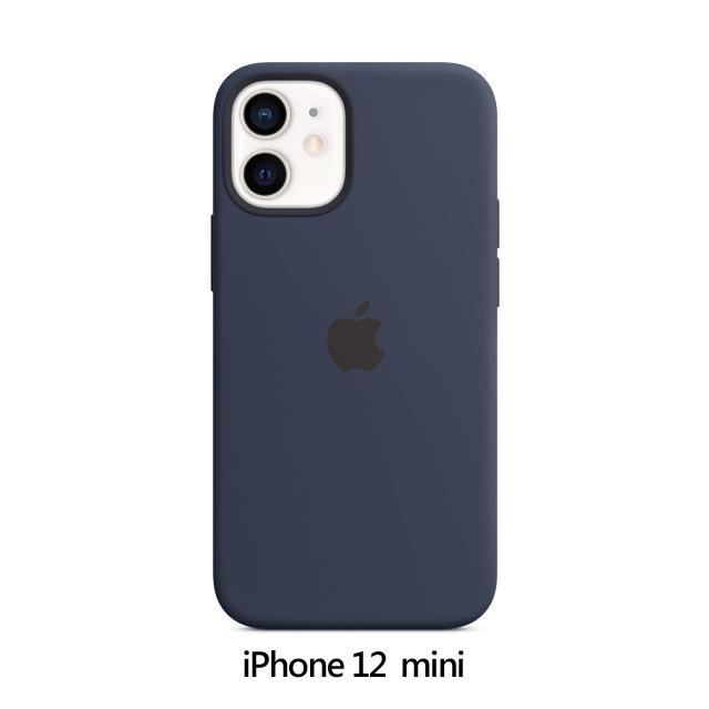 iPhone 12 mini MagSafe 矽膠保護殼 - 海軍深藍色 Deep Navy (MHKU3FE/A)