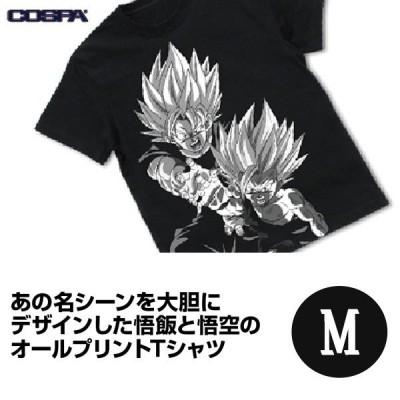 予約 ドラゴンボールZ 親子かめはめ波 オールプリントTシャツ/BLACK-M 発売日:2020年12月中 グッズ 1015