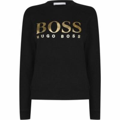 ヒューゴ ボス Boss レディース トップス Elaboss Crew Neck Black/Gold