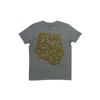 Tシャツ テイスティー ドット描かれた今晩のメニュー タイポ Tee