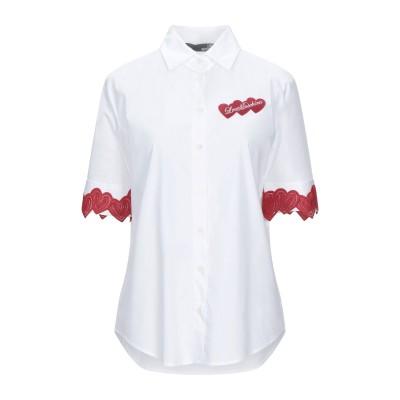 ラブ モスキーノ LOVE MOSCHINO シャツ ホワイト 38 コットン 97% / ポリウレタン 3% / ポリエステル シャツ