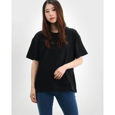 アールエヌエーエヌ RNA-N 綿シルクノイル天竺デザインTシャツ (ブラック)