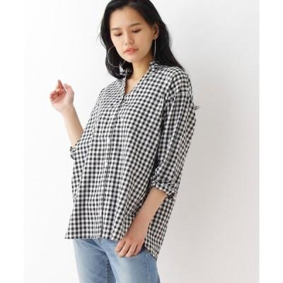 シャツ ブラウス 【イージーケア】フロントボタンシャツ