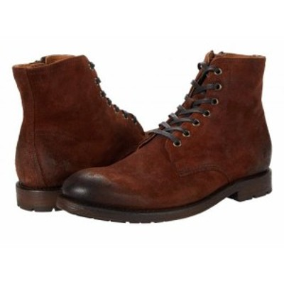 Frye フライ メンズ 男性用 シューズ 靴 ブーツ レースアップ 編み上げ Bowery Lace-Up Brown Oiled Suede【送料無料】