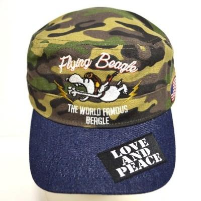 ローブローナックル スヌーピー 529418 ワークキャップ カモ色 フライング 帽子 PEANUTS SNOOPY メンズ