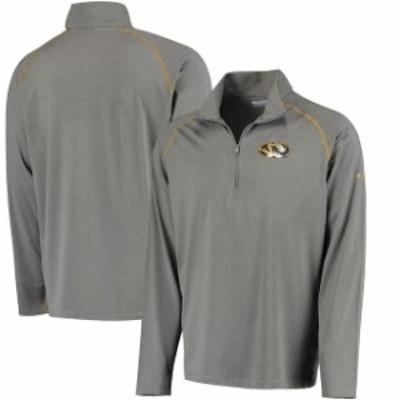 Columbia コロンビア スポーツ用品  Columbia Missouri Tigers Gray Collegiate Tuk Mountain Half-Zip Long Sleeve T-Shirt