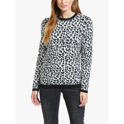ソサンダール ニット&セーター レディース アウター Sosandar Animal Print Jumper, Black/White