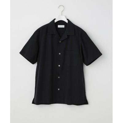 【アダムエロペ】 〈バンブー素材〉オーバーシルエットオープンカラーシャツ メンズ ブラック系 M ADAM ET ROPE'