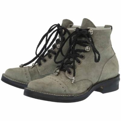 新品同様 クロムハーツ WESCO(ウエスコ) ジョブマスター ブーツ スウェード グレー サイズ8.5 メンズ 0059 CHROME HEARTS