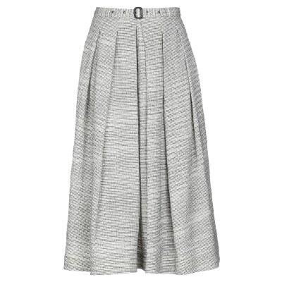 アスペジ ASPESI 7分丈スカート ベージュ 44 コットン 100% 7分丈スカート