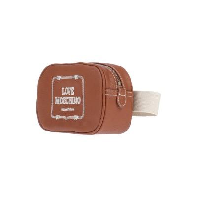 ラブ モスキーノ LOVE MOSCHINO バックパック&ヒップバッグ ブラウン ポリウレタン バックパック&ヒップバッグ