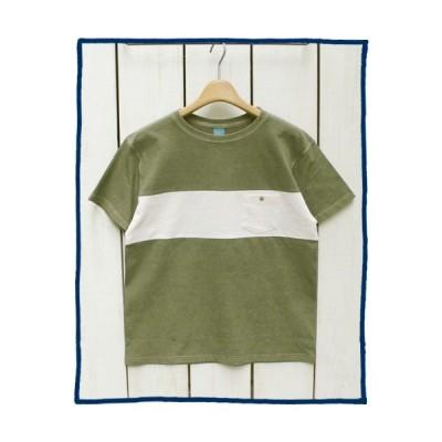 Good On グッドオン マリブ 切替ポケットTシャツ セージ ナチュラル 半袖 製品染め Malibu S/S Pocket Tee Sage Natural Pigment Dye