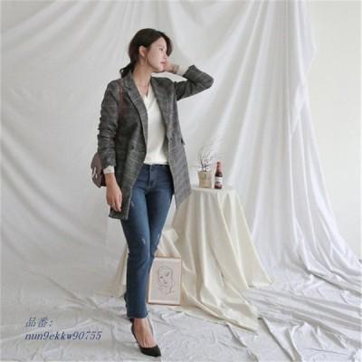 新しい春 女性 ジャケット チェック柄 ウール t 女性 コート スーツ ジャケット ビジネス 女性 カジュアル 長袖 ブ レザー AliExpress グループ上 レディー