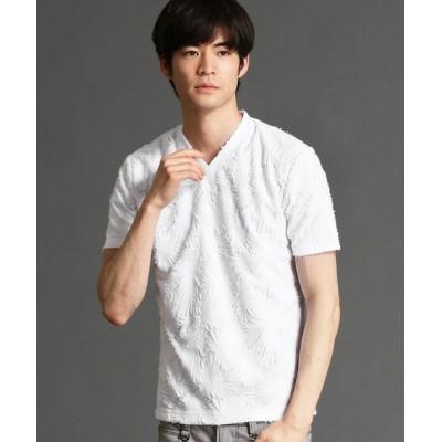 tシャツ Tシャツ バックカットジャカードVネックTシャツ