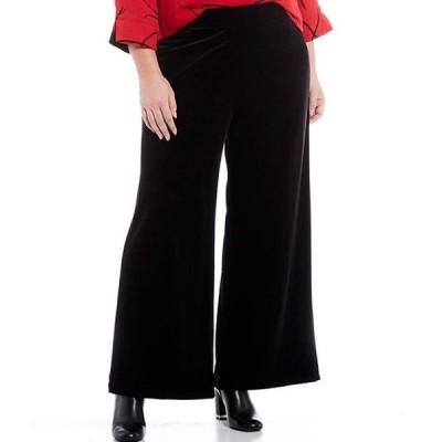 ジョン マーク レディース カジュアルパンツ ボトムス Plus Size Velvet Wide Leg Pull-On Pants