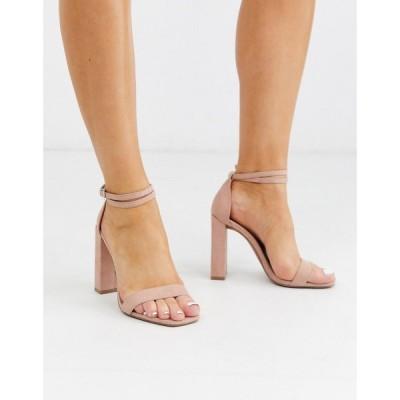エイソス ASOS DESIGN レディース サンダル・ミュール シューズ・靴 Notice barely there heeled sandals in beige ベージュ