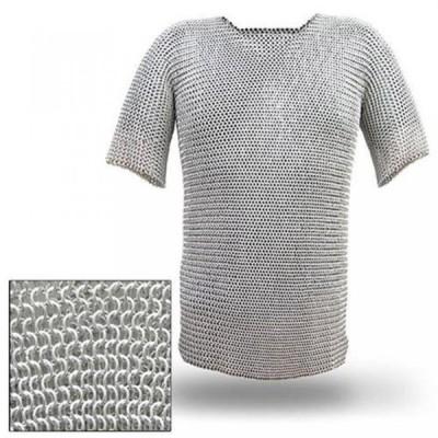 ボクシング用品 中世ルネッサンス カンバス レプリカ戦士チェインメイルアーマー長いシャツ XL