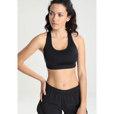 カサル カットソー レディース トップス ICONIC SPORTS BRA - Medium support sports bra - black