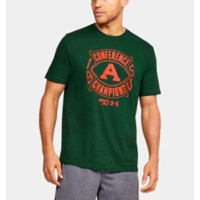 アンダーアーマー メンズ Tシャツ Under Armour Performance Cotton Collegiate T-Shirt 半袖 アメフト カレッジ Forest Green