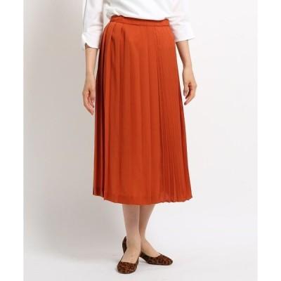 スカート [S]【ハンドウォッシュ】タータンチェック切り替えプリーツスカート