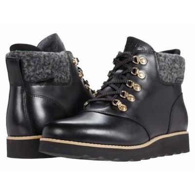 コールハーン スニーカー シューズ レディース Nantucket Rugged Waterproof Hiker Bootie Black Waterproof Leather