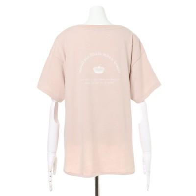 アラマンダ allamanda アップルパイ半袖Tシャツ (ピンクベージュ)