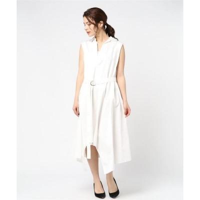 ドレス 【MAISON MIHARA YASUHIRO】サイドフレアシャツドレス/Side Flare Shirts Dress