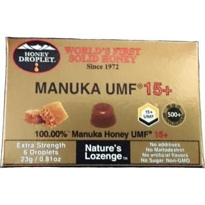 ニュージーランド産 UMF15+ マヌカハニーロゼンジ 固形のど飴 1箱 ハニージャパン社製