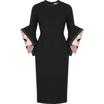 ロクサンダ Roksanda レディース パーティードレス ワンピース・ドレス Ronda Black Origami-Sleeve Dress Black