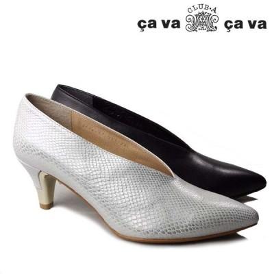 cavacava 3720187 サヴァサヴァ Vカットパンプス