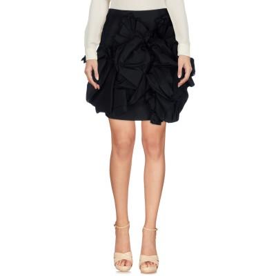 ディースクエアード DSQUARED2 ひざ丈スカート ブラック 36 シルク 100% ひざ丈スカート
